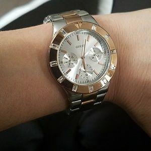 Guess two toned women's watch